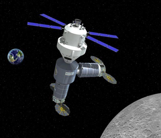 Cislunar space outpost