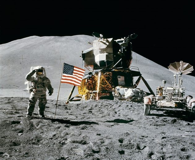 James Irwin on Apollo 15