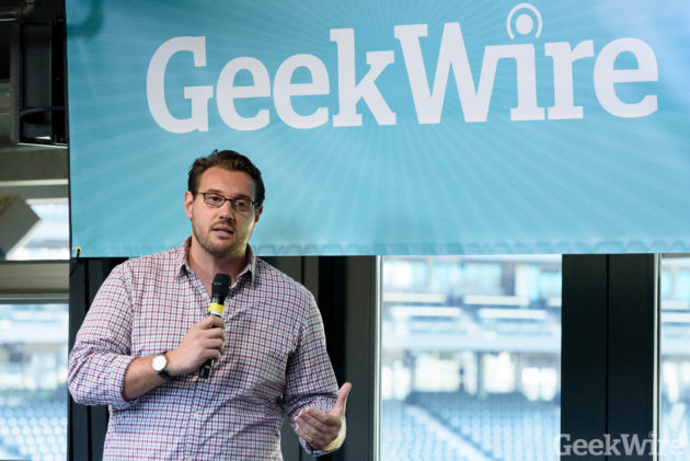 Dan Giulani speaks at the GeekWire Sports Tech Summit 2016.