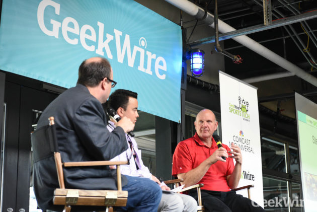 L.A. Clippers owner Steve Ballmer at the GeekWire Sports Tech Summit