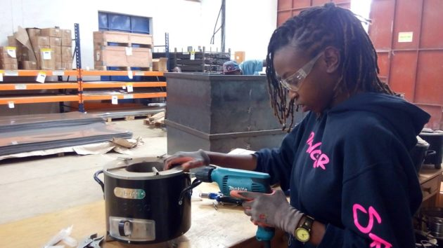 Most of the employees of BURN Manufacturing's factory in Nairobi are women. (BURN Design Lab)