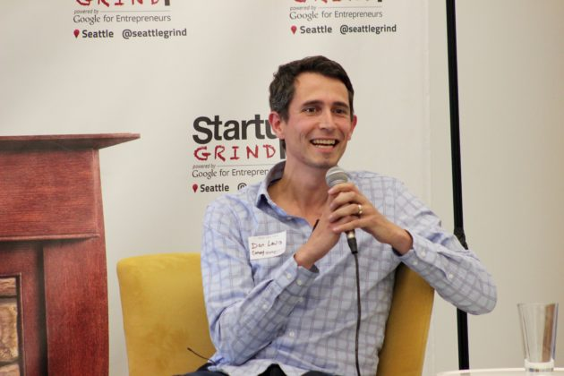 Convoy CEO Dan Lewis speaks at Startup Grind in Seattle.