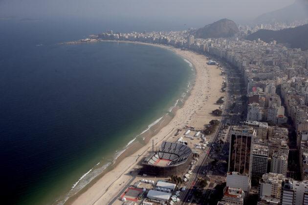 Rio beach Olympics scene