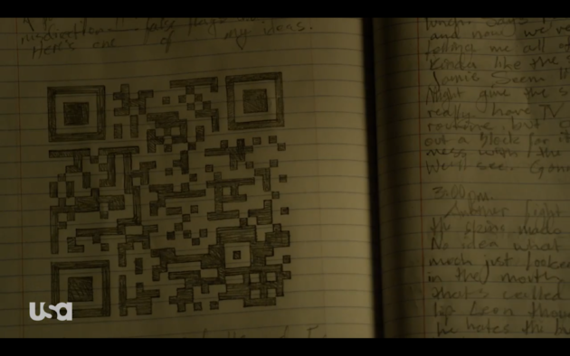 Figure 2: A mysterious QR code in Elliot's diary. Visit it.