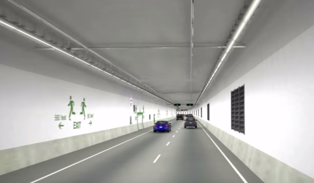 SR 99 tunnel video