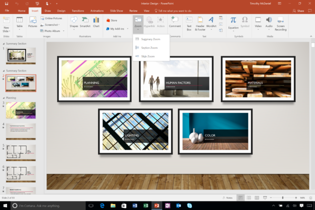 Zoom for PowerPoint. Credit: Microsoft.