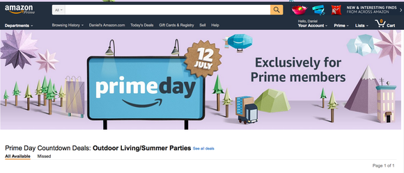 amazon prime day screen shot