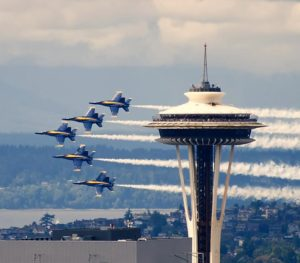 Blue Angels and Space Needle