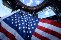 U.S. flag on space station