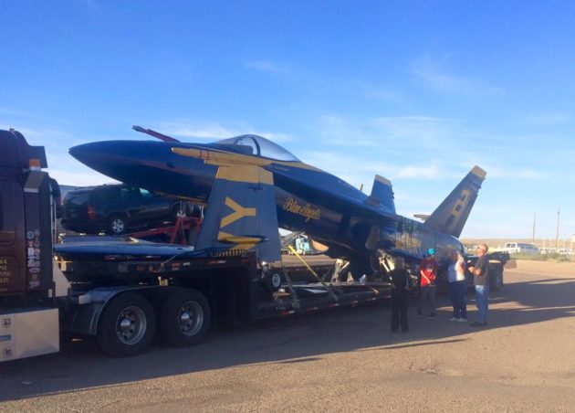 Blue Angels jet in Wyoming