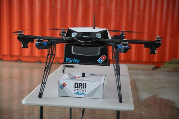 Flirtey pizza delivery system