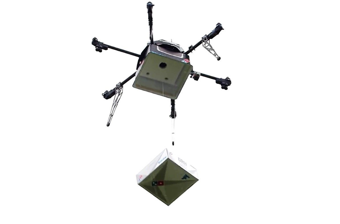 drones that deliver pizza with Drone Delivery Pizza Dominos Flirtey on Details in addition 2142941828498493403 besides Watch A Drone Deliver A Pizza In Mumbai likewise Food delivery drones may soon be here further Meet Your Newest Wedding Photographer.