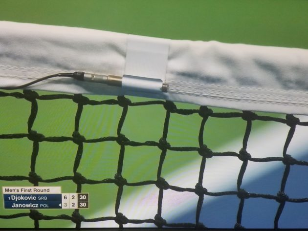 This device measures net vibrations at the U.S. Open.