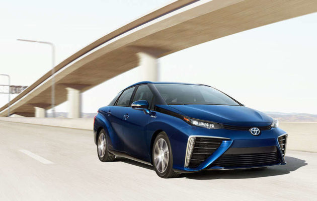 The hydrogen-powered Toyota Mirai