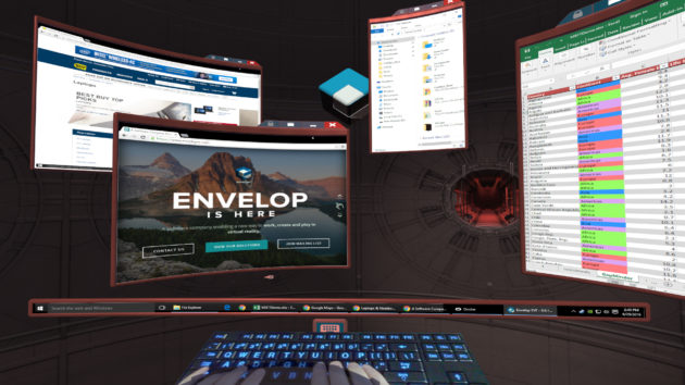 windows apps in virtual reality  envelop vr unveils 3d