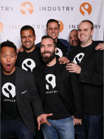 Founders and employees of Industry, a job search app for restaurant and hospitality workers. Credit: Industry.