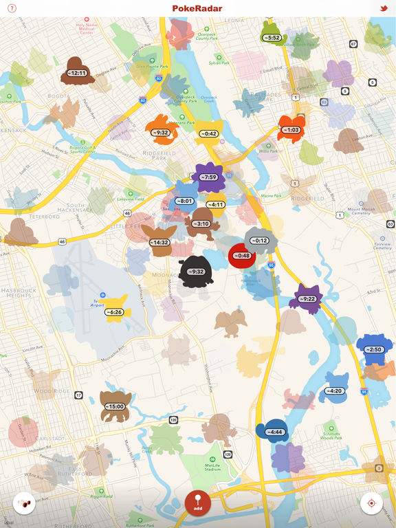 PokeRadar predicts where Pokemon will spawn, and for how long they will stick around. Screenshot from Poke Radar.