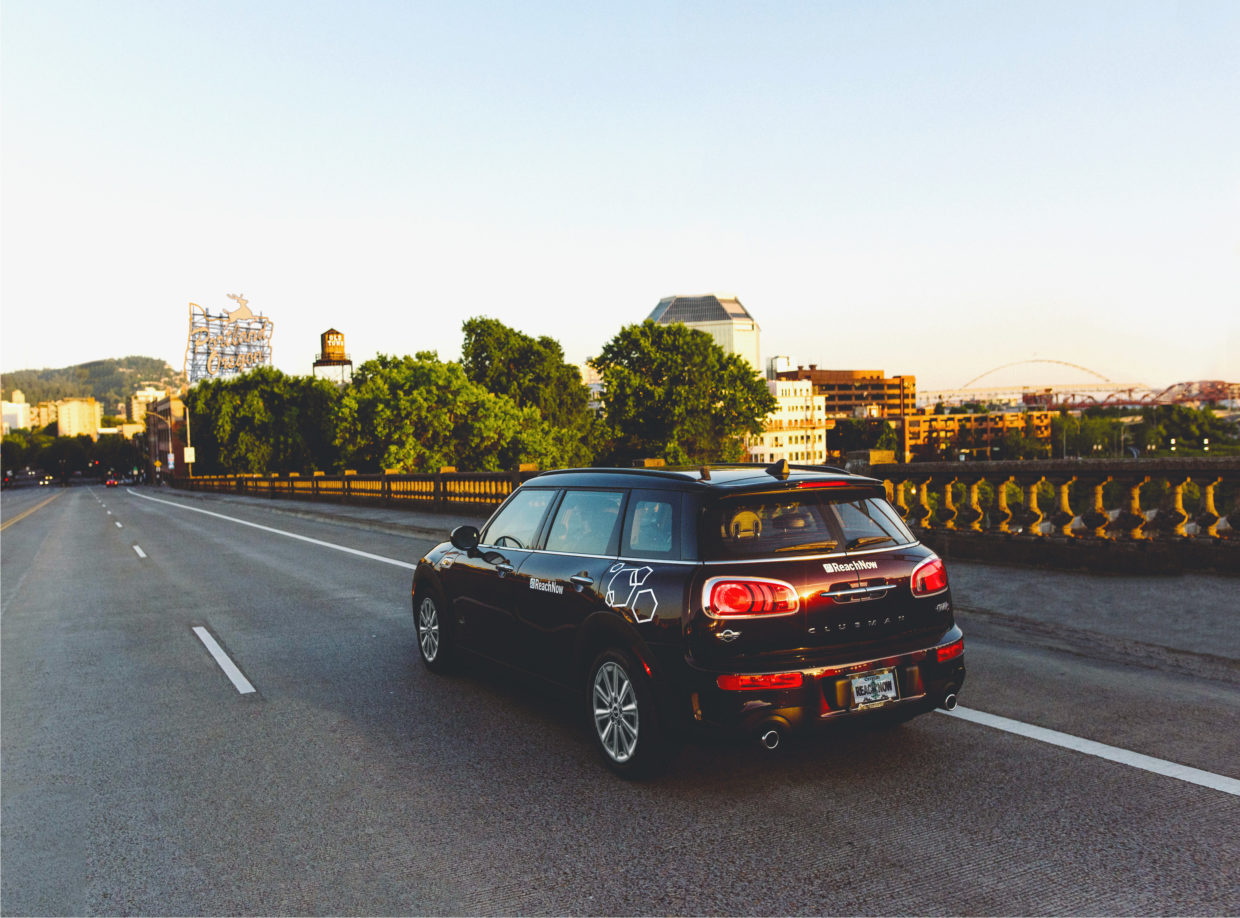 BMW ReachNow car sharing service opens lot at