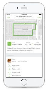 Rover's new features let pet sitters and dog walkers give more feedback to owners. Credit: Rover.