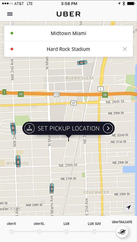 UberTailgate: Uber teams up with Miami Dolphins to help NFL fans