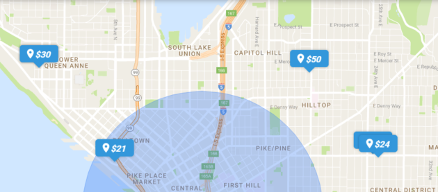 Wikileaf shows prices at dispensaries in your area. Screenshot: wikileaf.com.