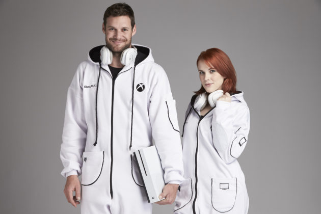 The Xbox Onesie. (Photos via Microsoft).