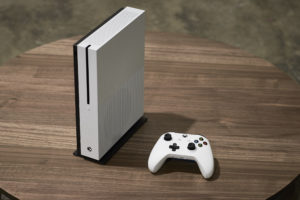 Micorosft's new Xbox One S console.