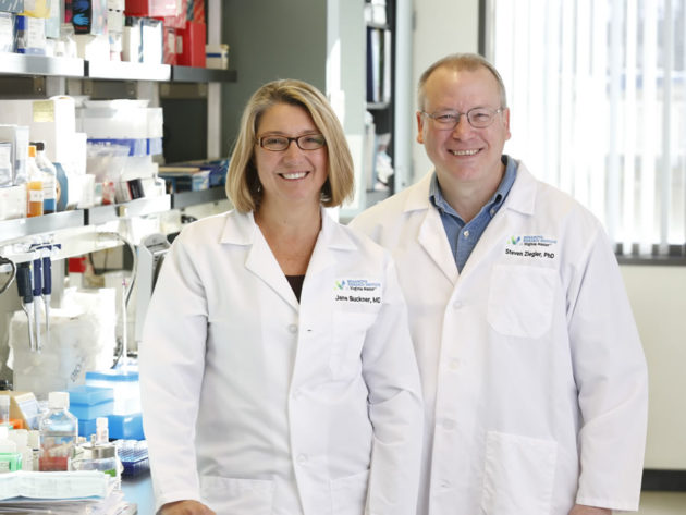 Dr. Jane Buckner, left, Benaroya Research Institute president and program director of BRI's translational research program and BRI researcher Dr. Steven Zielger, right, who will lead the program.