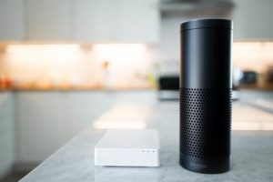 Lowe's smart Iris devices can now be controlled through voice commands with Amazon Alexa devices. Credit: Lowe's