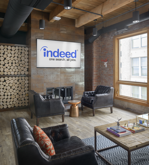 A common area at Indeed's offices.