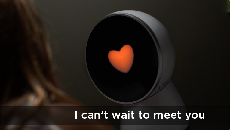"Jibo: ""I can't wait to meet you."""