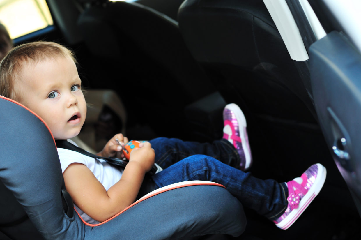 kid in car