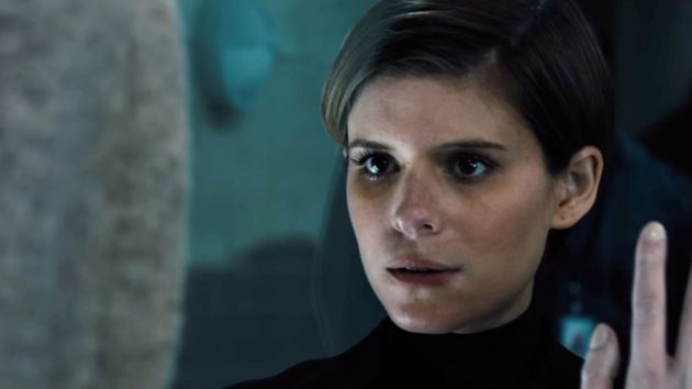 "Kate Mara, of ""House of Cards"" fame, plays a corporate troubleshooter called in to a research facility to evaluate a bioengineered child. (Credit: 20th Century Fox.)"
