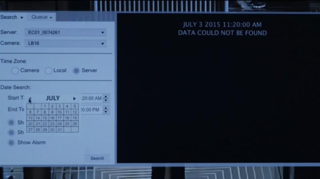 Figure 3: Deleted surveillance footage.