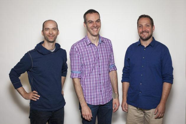 Glowforge co-founders Mark Gosselin, Dan Shapiro, and Tony Wright. Photo via Glowforge.