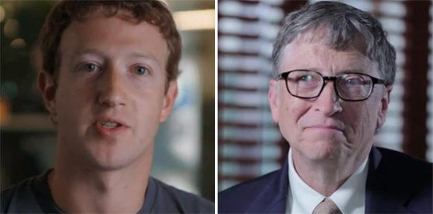 (Photos via Photo via Facebook and YouTube/Vox/Bill Gates).