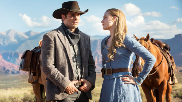 Teddy Flood (James Marsden) and Dolores Abernathy (Evan Rachel Wood).