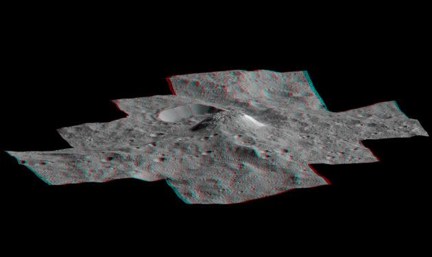 Dawn 3-D view of Ceres