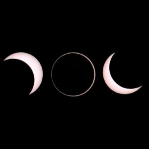 Annular solar eclipse from Slooh