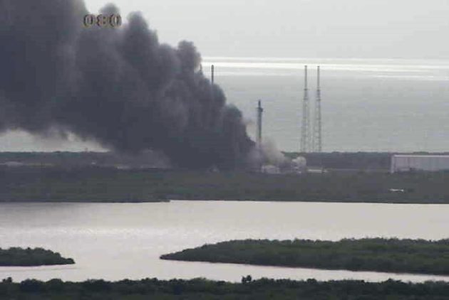 SpaceX blast scene