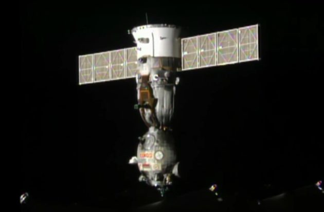 Soyuz seen from station