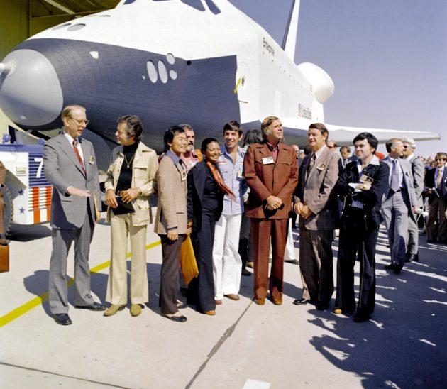 Star Trek cast at Enterprise