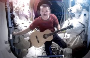 Chris Hadfield with guitar