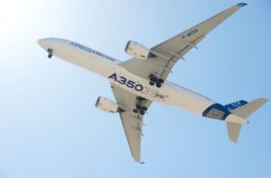 Airbus A350 XWB jet