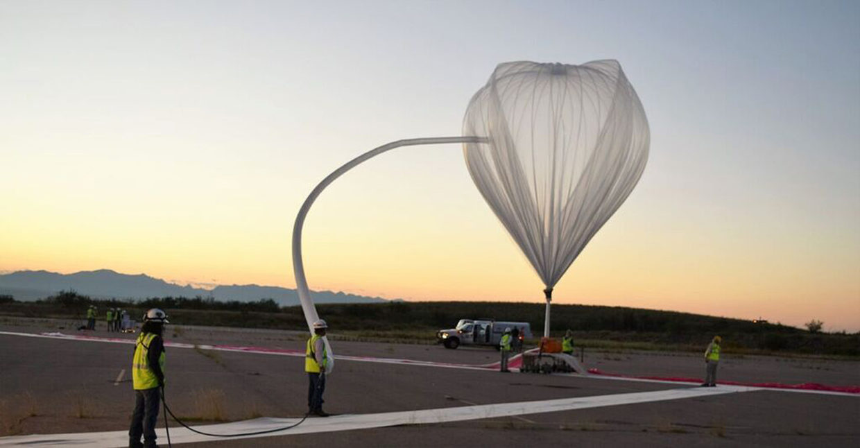 world view launches balloon from spaceport tucson for first time