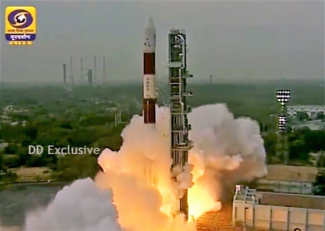 Indian Rocket Sends Blacksky Satellite Into Space Geekwire