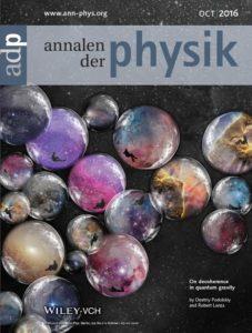 Annalen der Physik cover