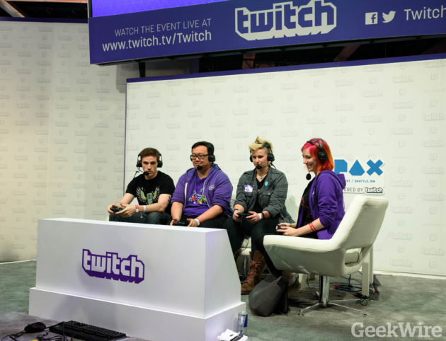 Twitch streaming at PAX