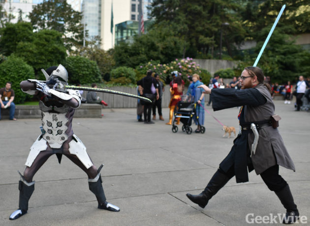 Cosplay sword battle at PAX.