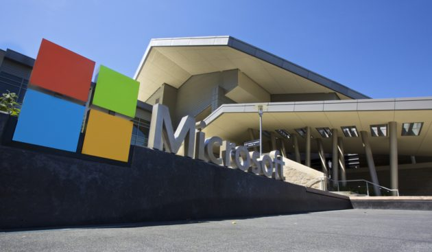 Microsoft's Redmond campus. (Photo by (Stephen Brashear/Getty Images)